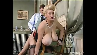 Big tit blonde BBW gets a good fucking