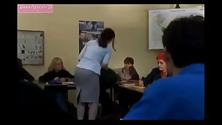 Modest mature teacher fucks with student-boy - Sex scene from movie