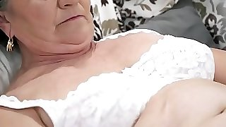 Old unshaved pussy filled with young cock